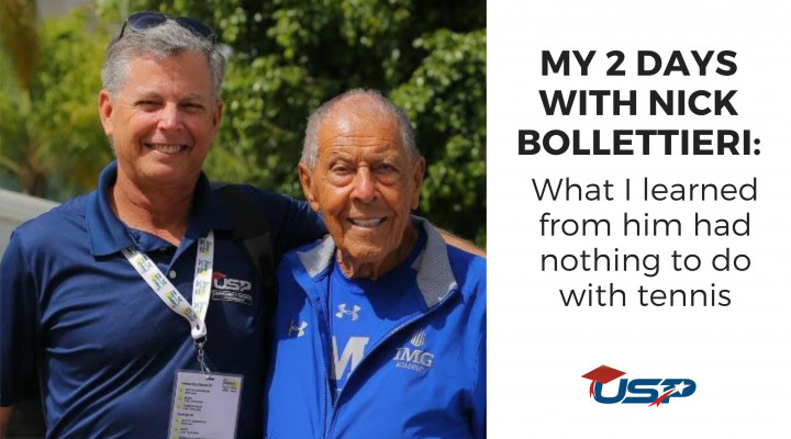 My 2 days with Nick Bollettieri: What I learned from him had nothing to do with tennis...
